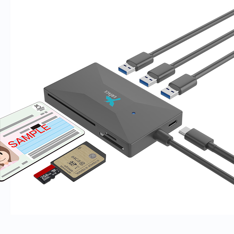 IMD-CS386-A USB3.0 Hub & Smart Card Reader