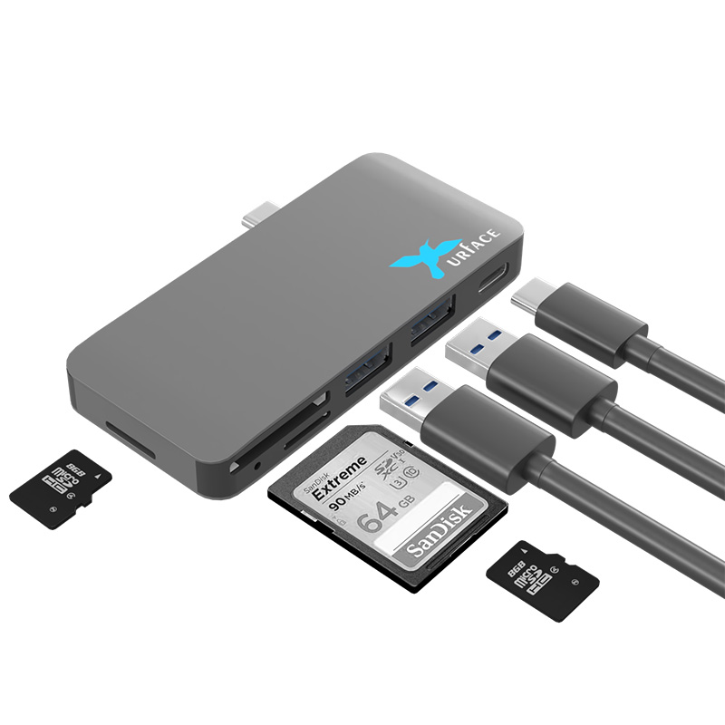 IMD-UTC367 Docking USB3.0 Hub & Reader+PD for LAPTOP