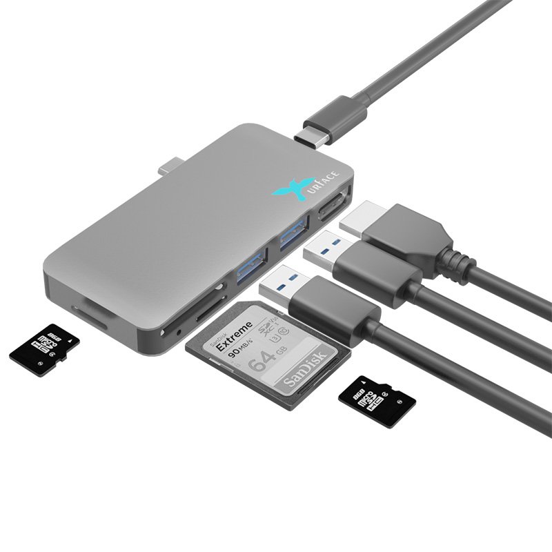 IMD-UTC374 Docking USB3.0 Hub & Reader & HDMI+PD for LAPTOP